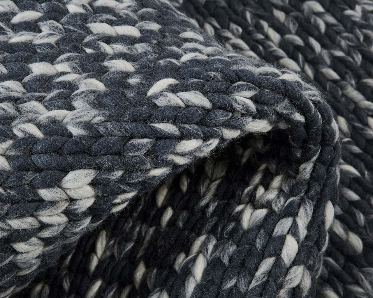 soft braided knitted snow wool decor carpets