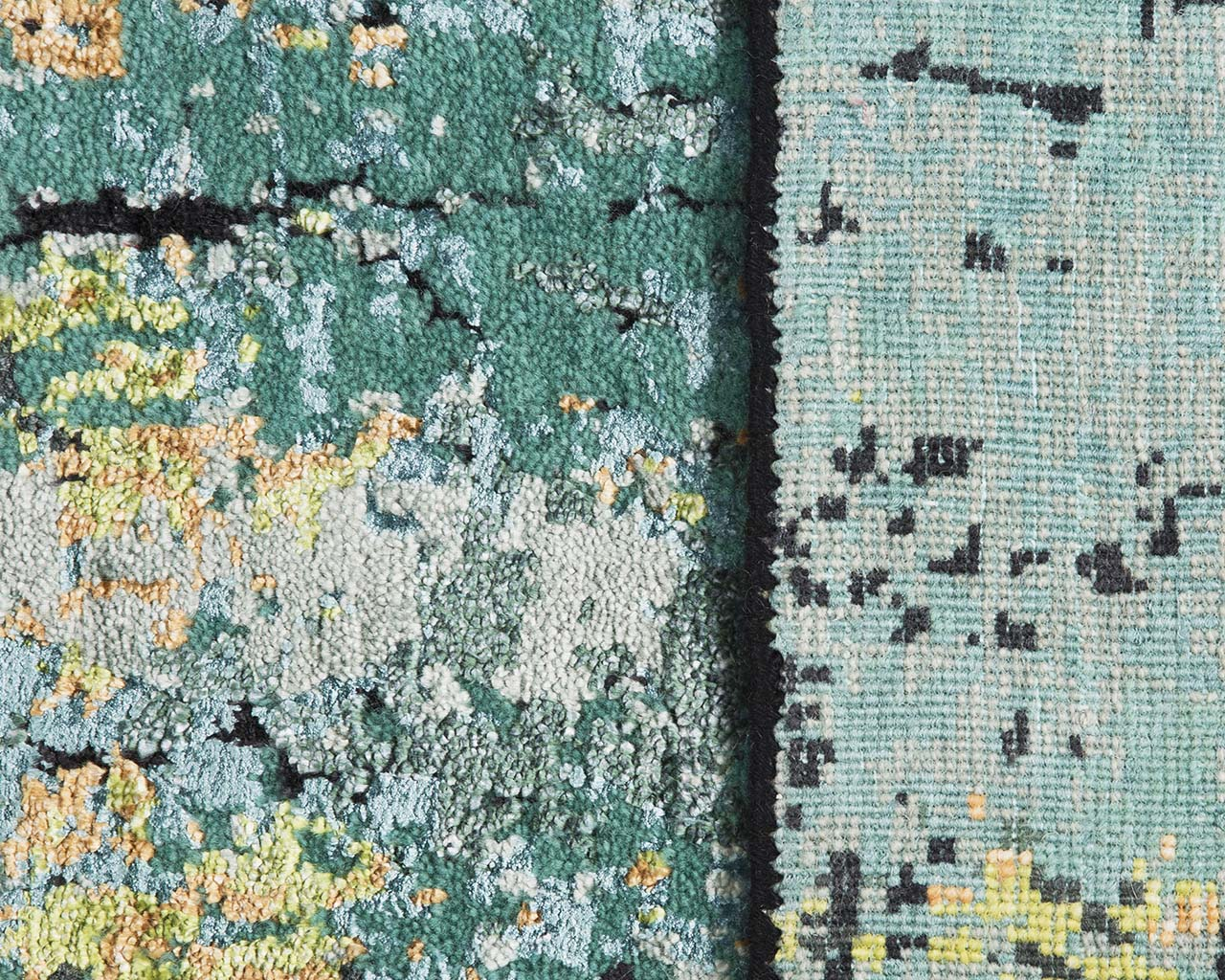 teal hand knotted antique rugs