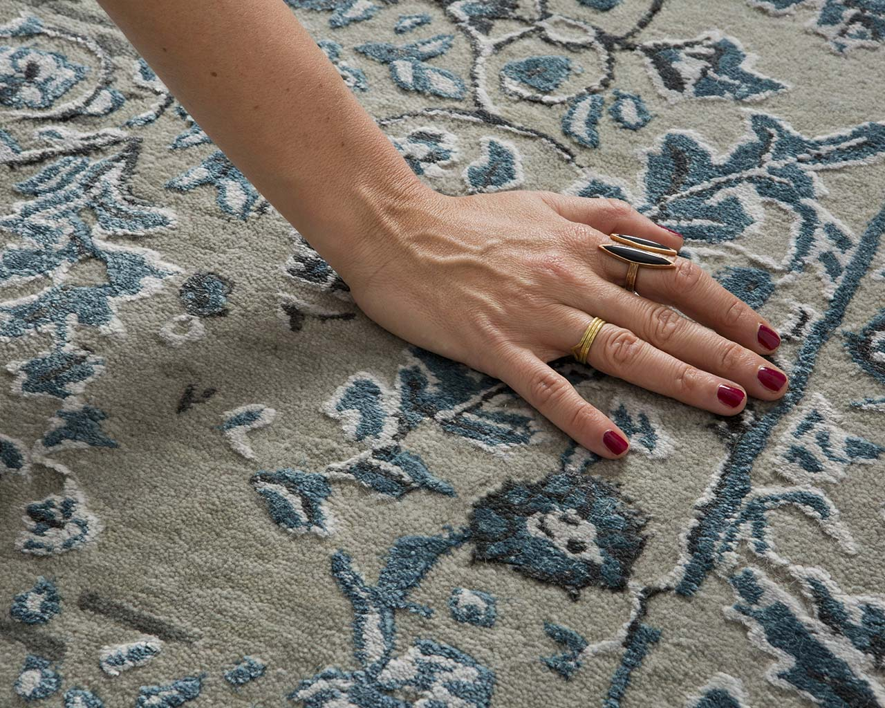 teal tufted hand with nail polish cheap large rugs