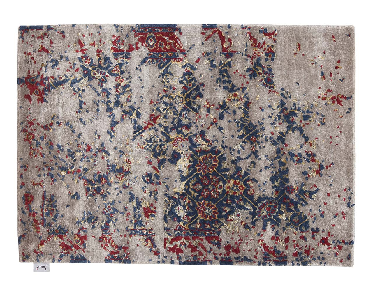 tufted rectangle blue persian oriental rugs