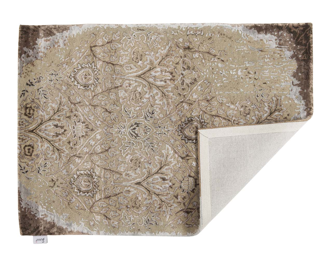 tufted wrapped rosy brown modern style rugs