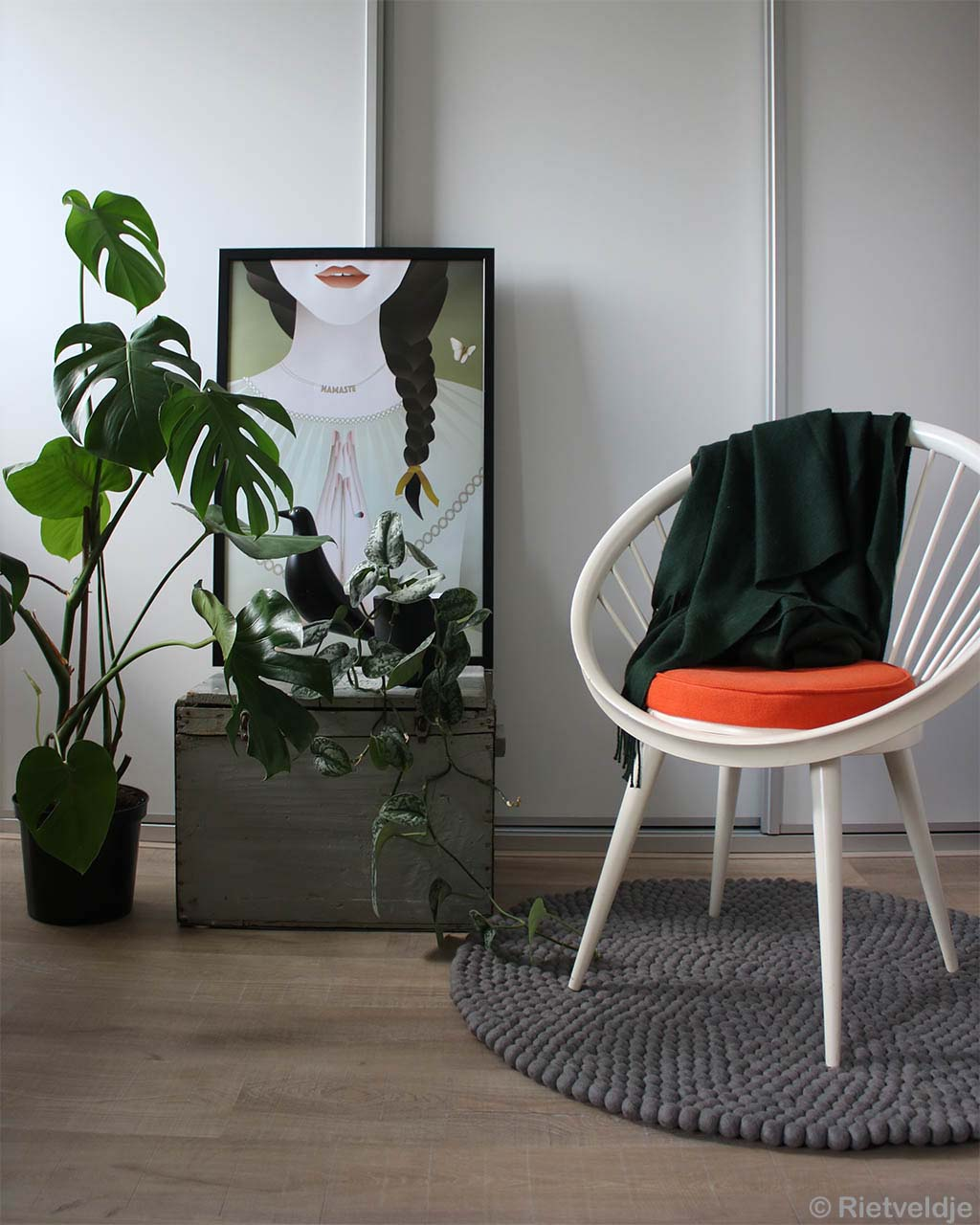 white chair painting and pot asian contemporary rugs usa