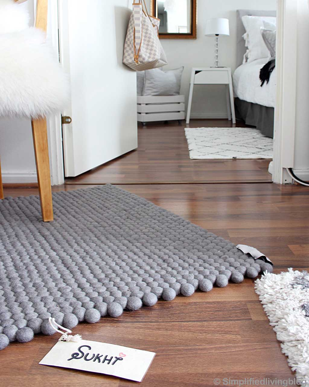 white furniture nepalese oriental gray felt ball rugs