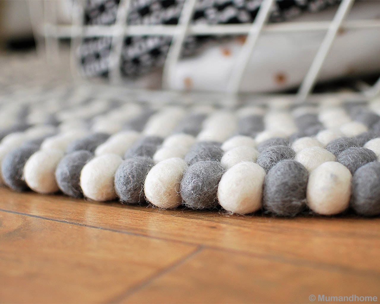 woolen brown floor nepalese traditional white gray felt ball cheap area rugs