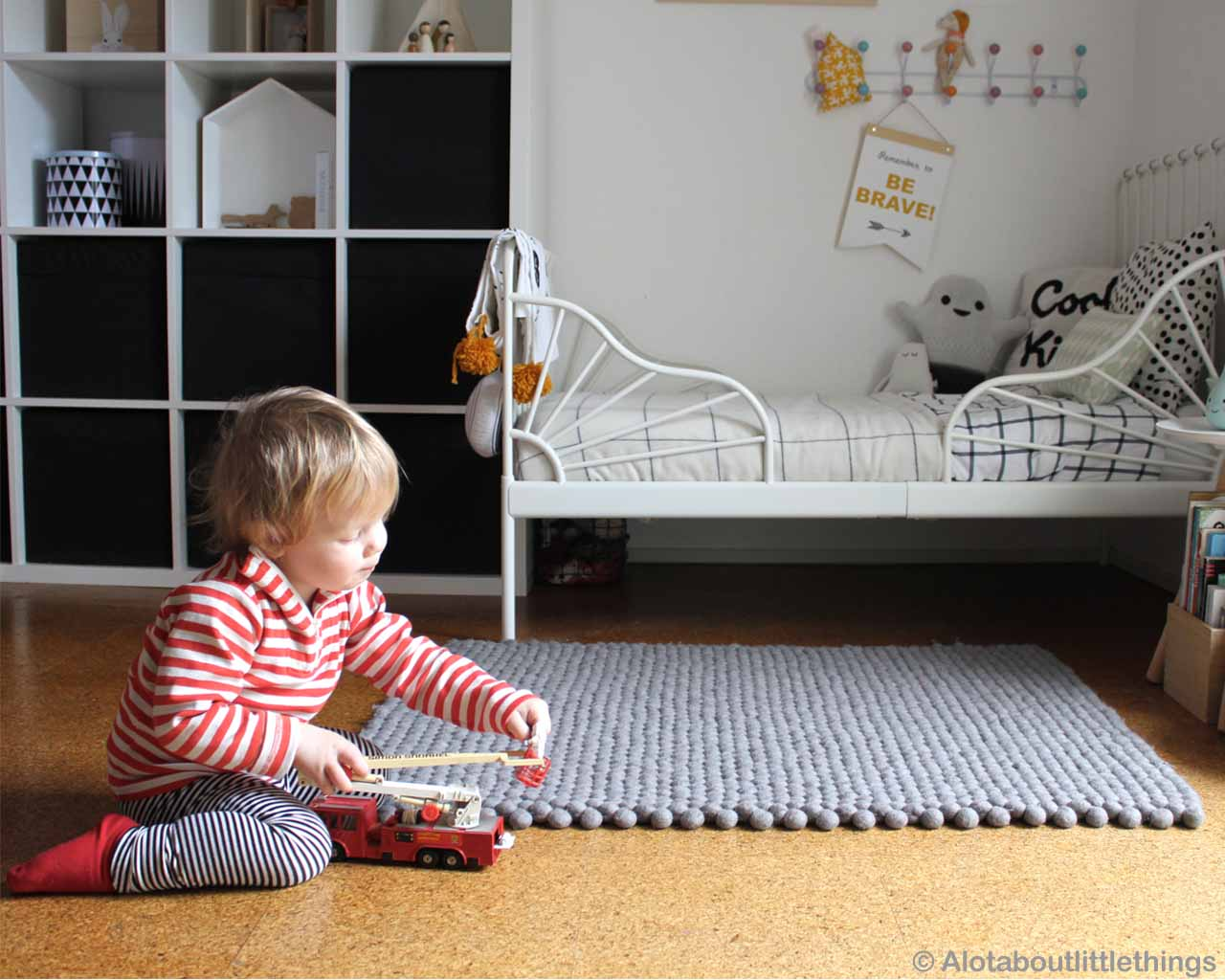 woolen cute kid playing with toys made in nepal modern accent rugs