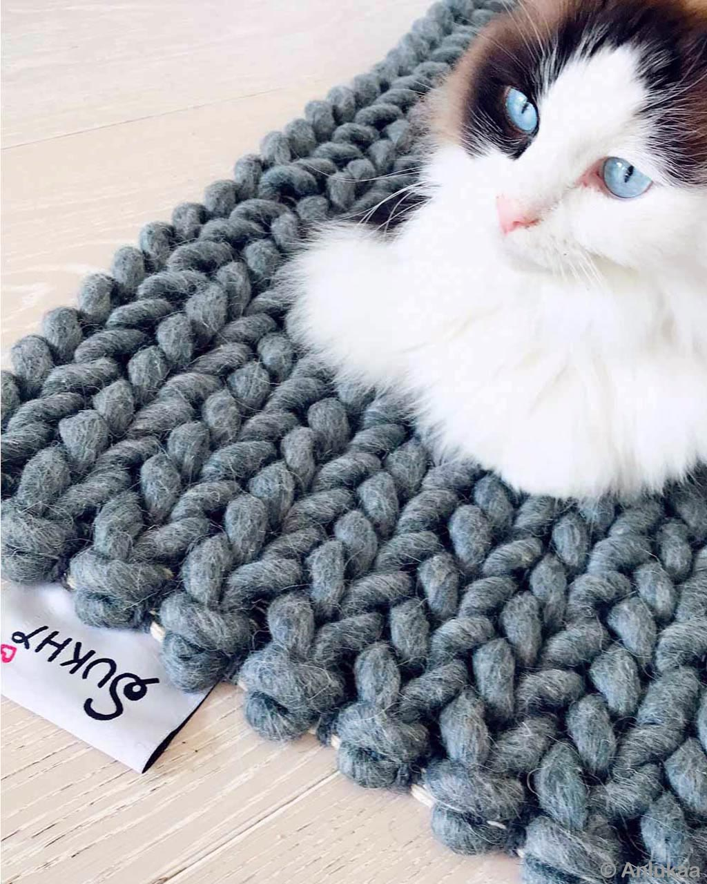 woolen man playing with cute cat traditional cheap area rugs