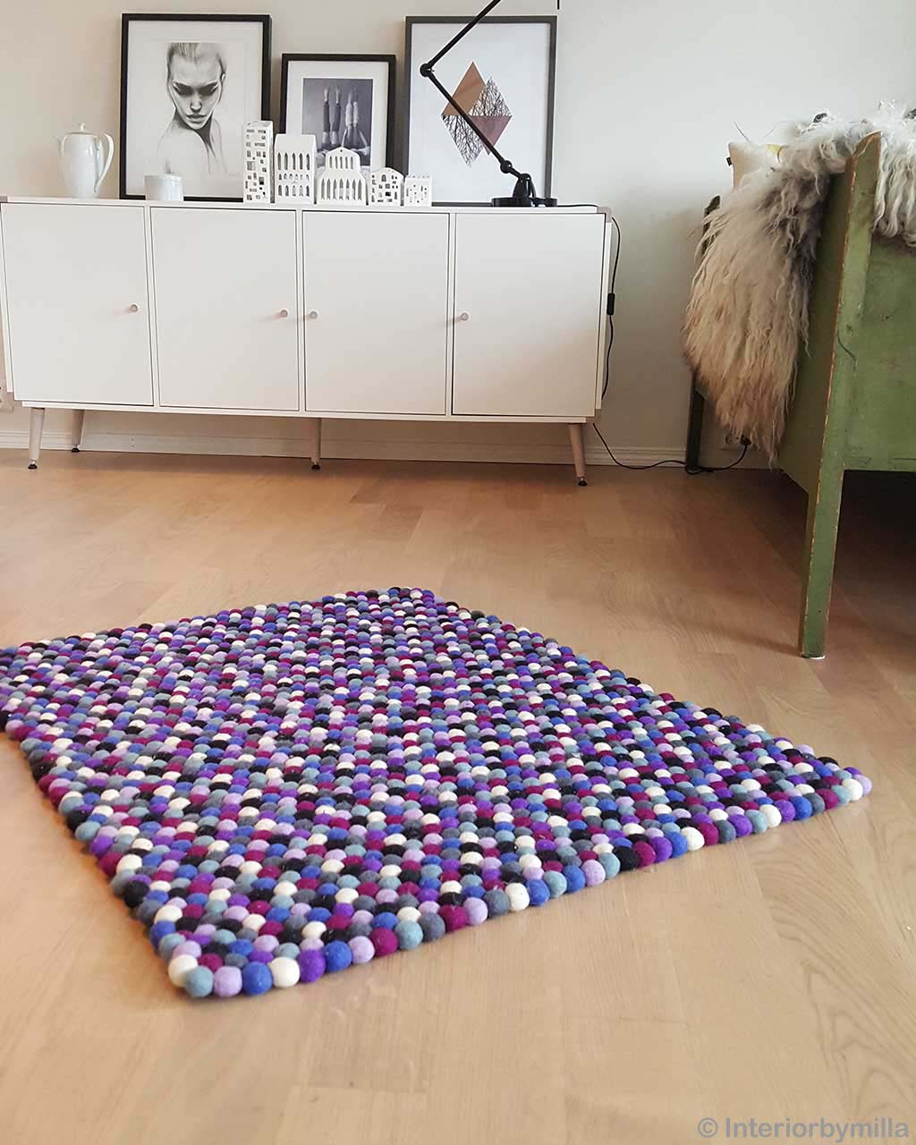 woolen nice paintings in gray shade made by nepalian contemporary kitchen rugs