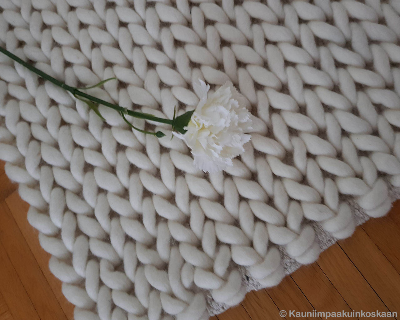 woolen white flower with green stem asian danish design area rugs