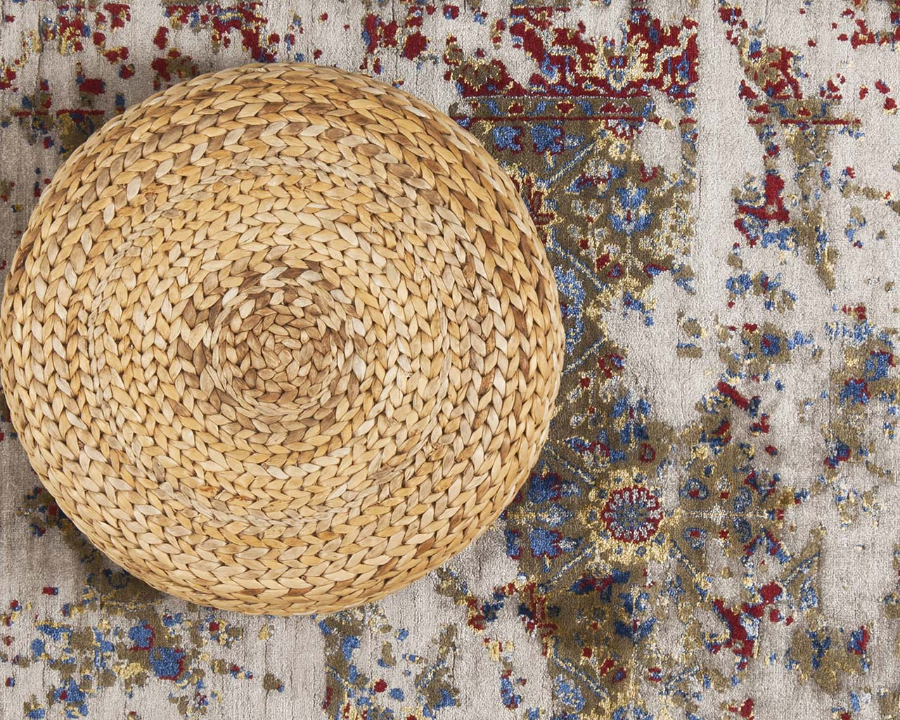 woven aqua round rugs for sale