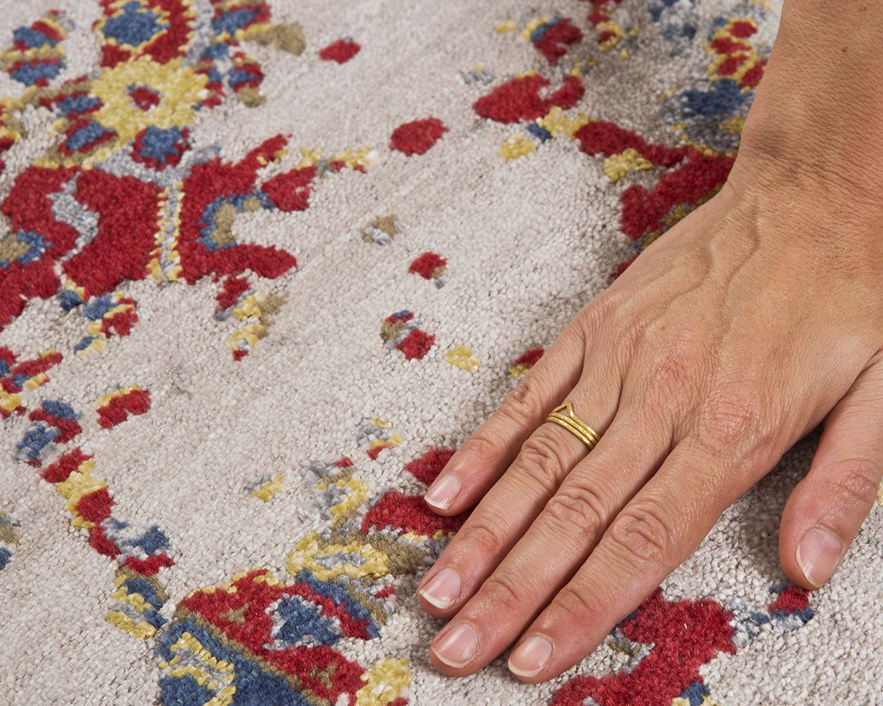 woven fire brick hand with ring wool carpets online