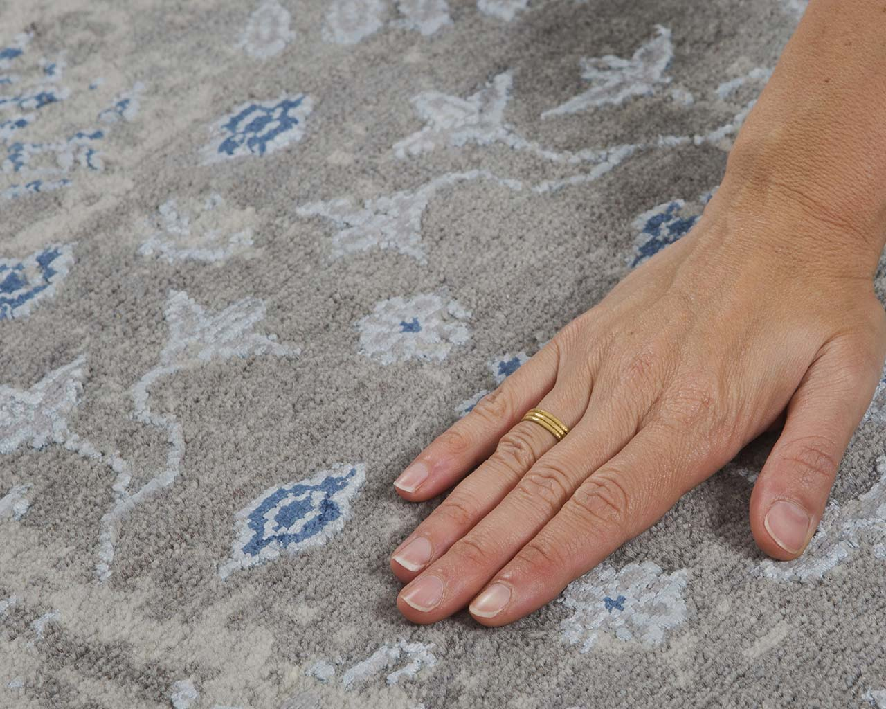 woven fresh light sky blue hand with ring contemporary oriental rugs