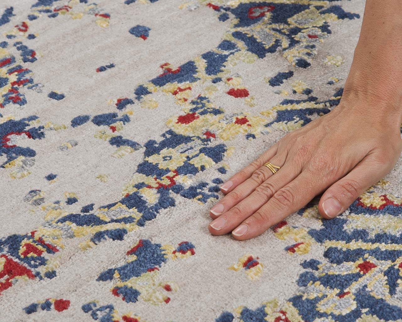 woven fresh teal hand with ring discount carpets online