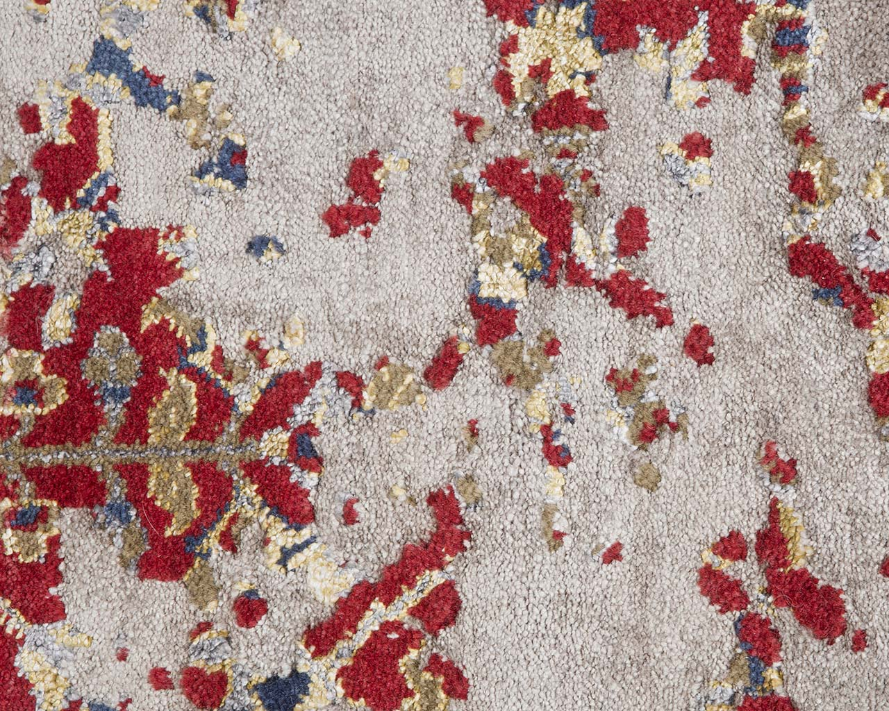 woven hand knotted crimson shag area carpets