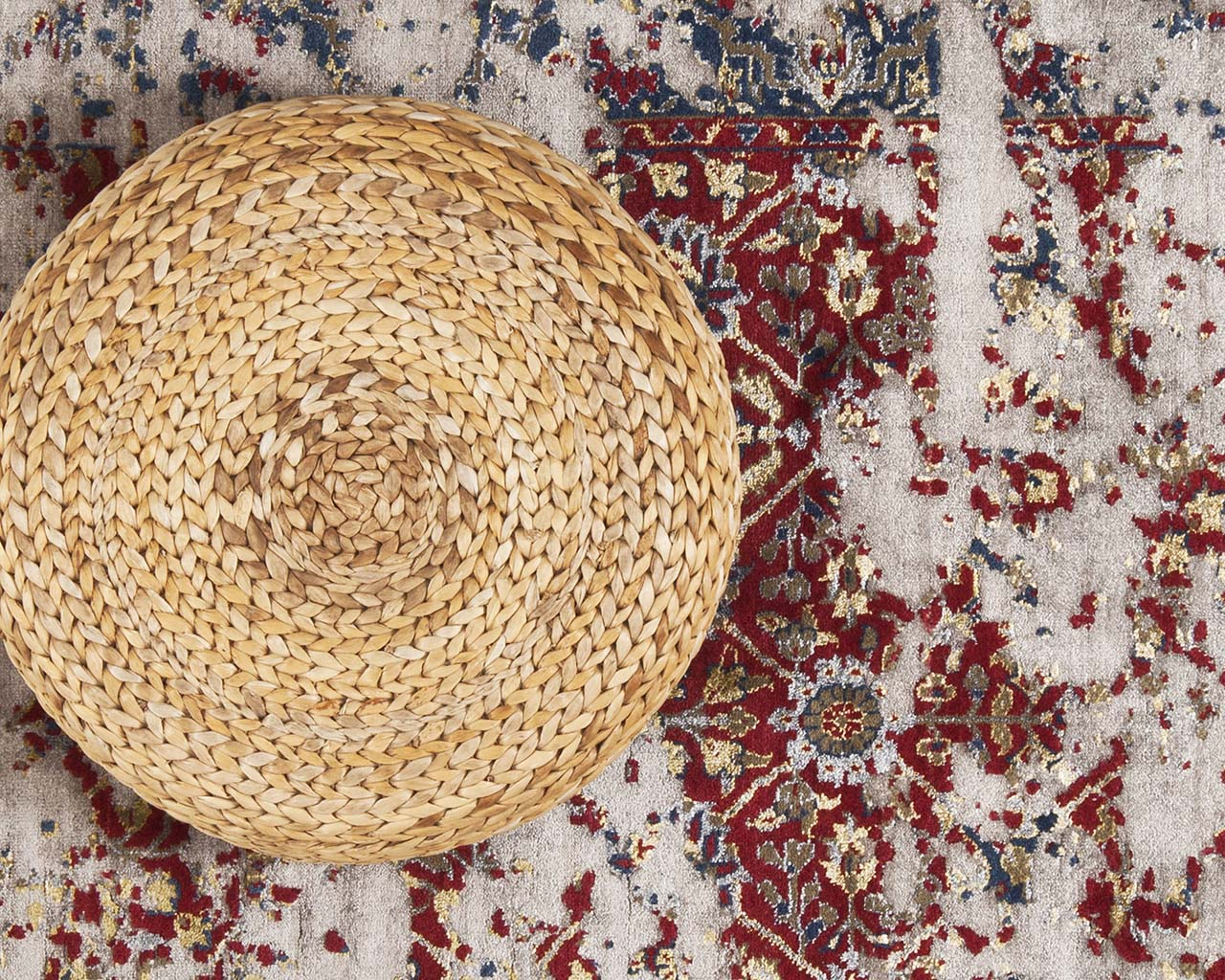 woven light coral square oriental rugs