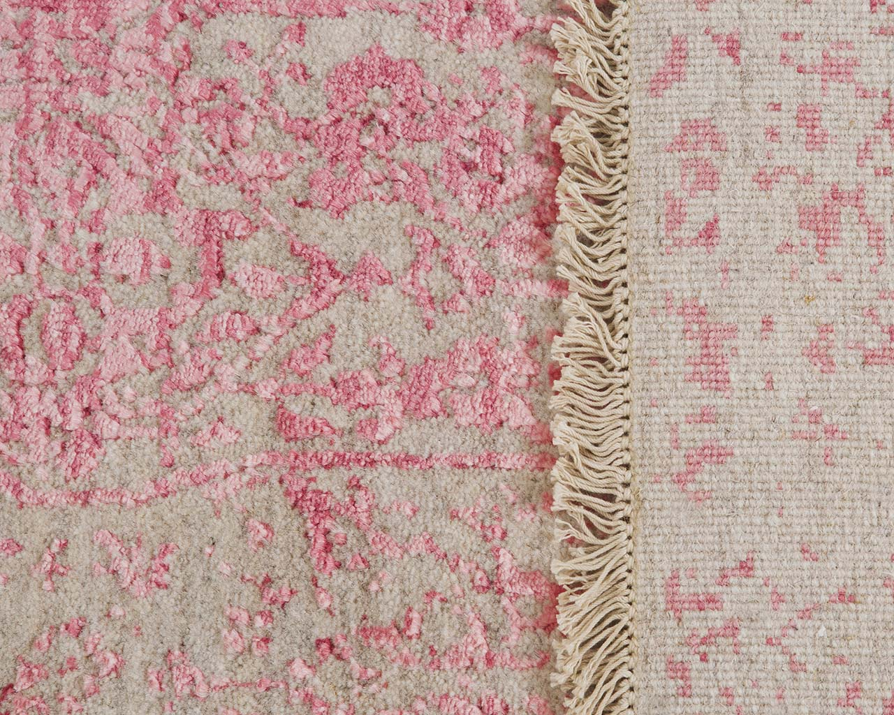 woven light pink floor carpets
