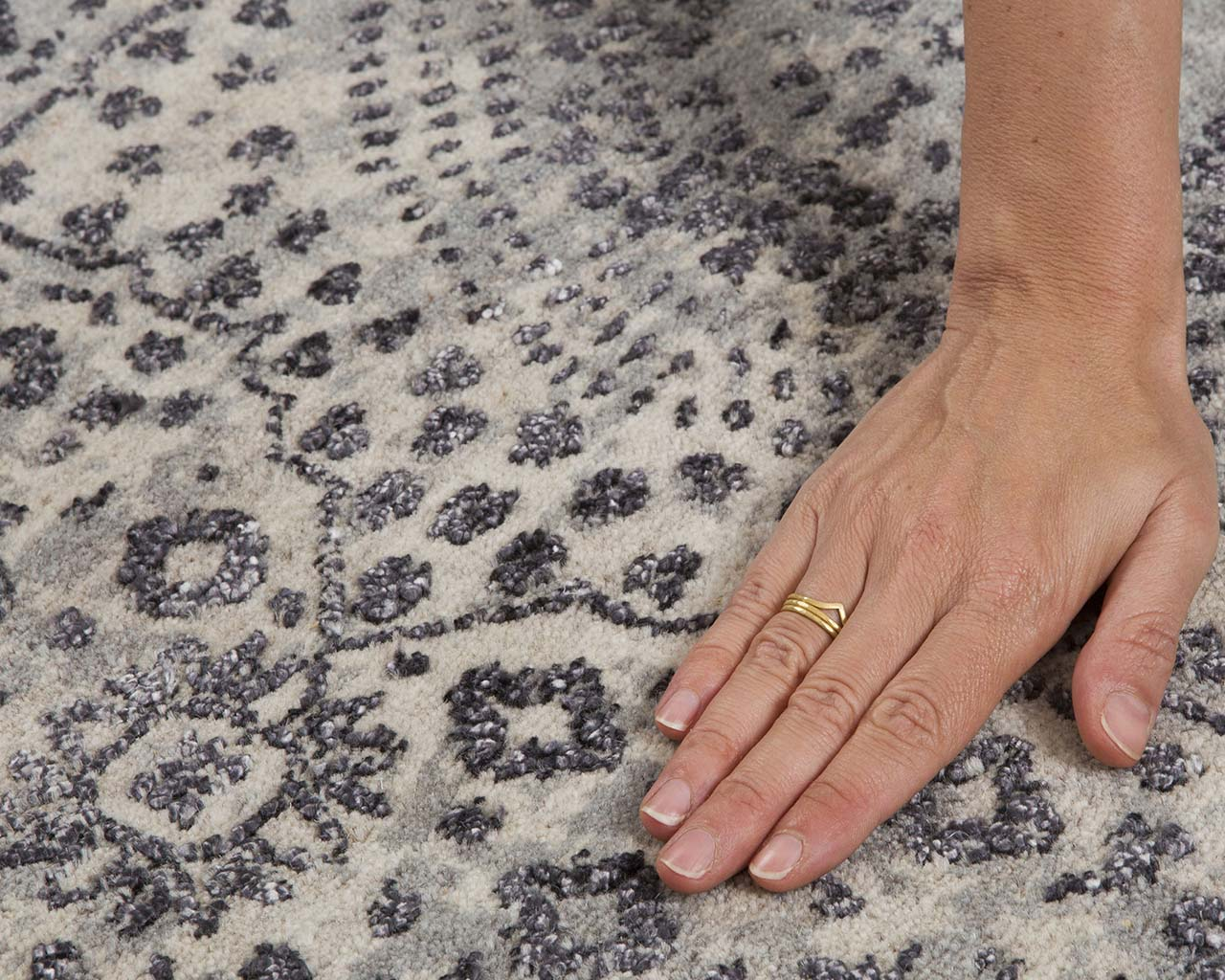 woven luxurious dim gray hand with ring modern rugs for dining room