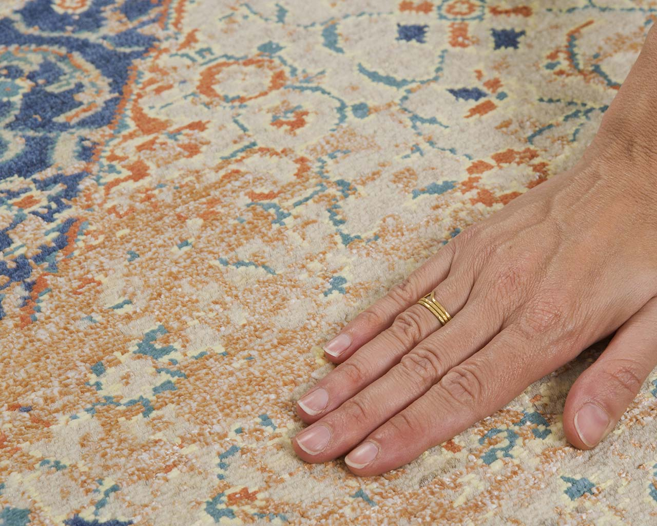 woven modern slate gray hand with ring persian carpets near me