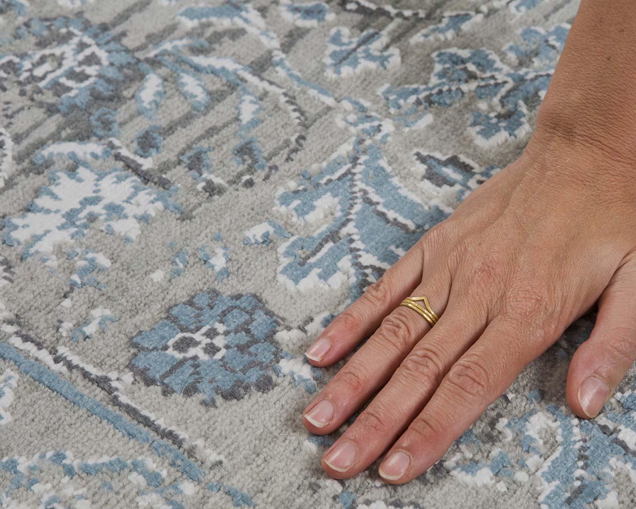 woven oriental teal hand with ring carpet sizes