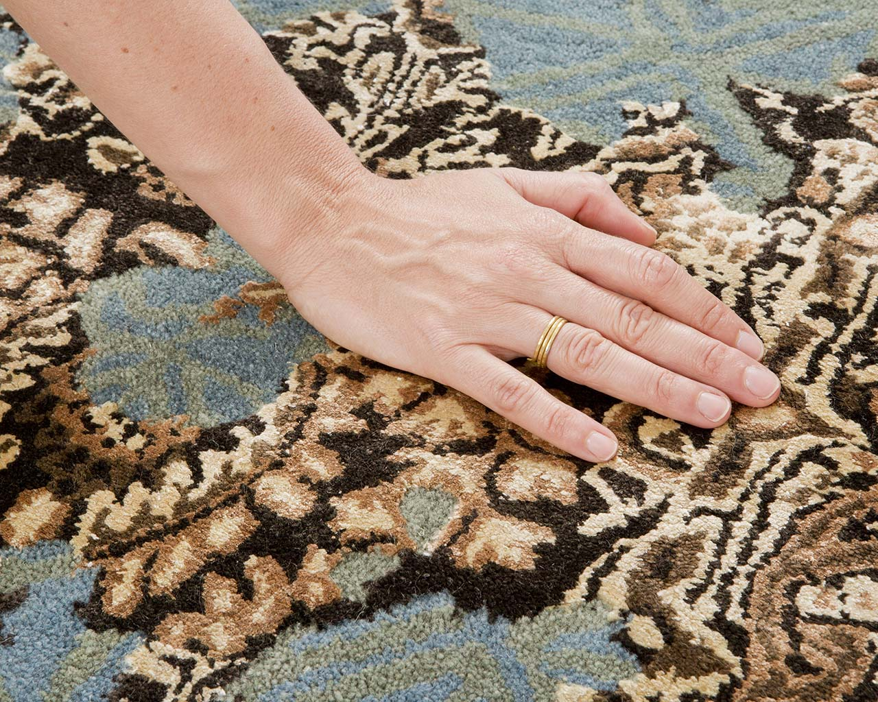 yellow green modern hand with ring modern colourful carpets