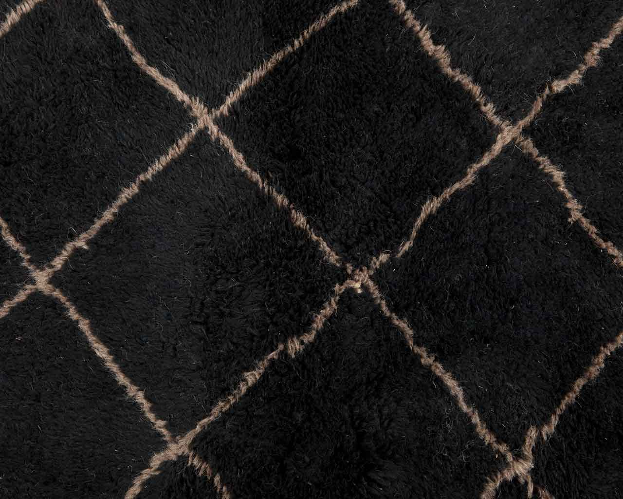 grey diamond lines black woolen soft carpet deluxe 2
