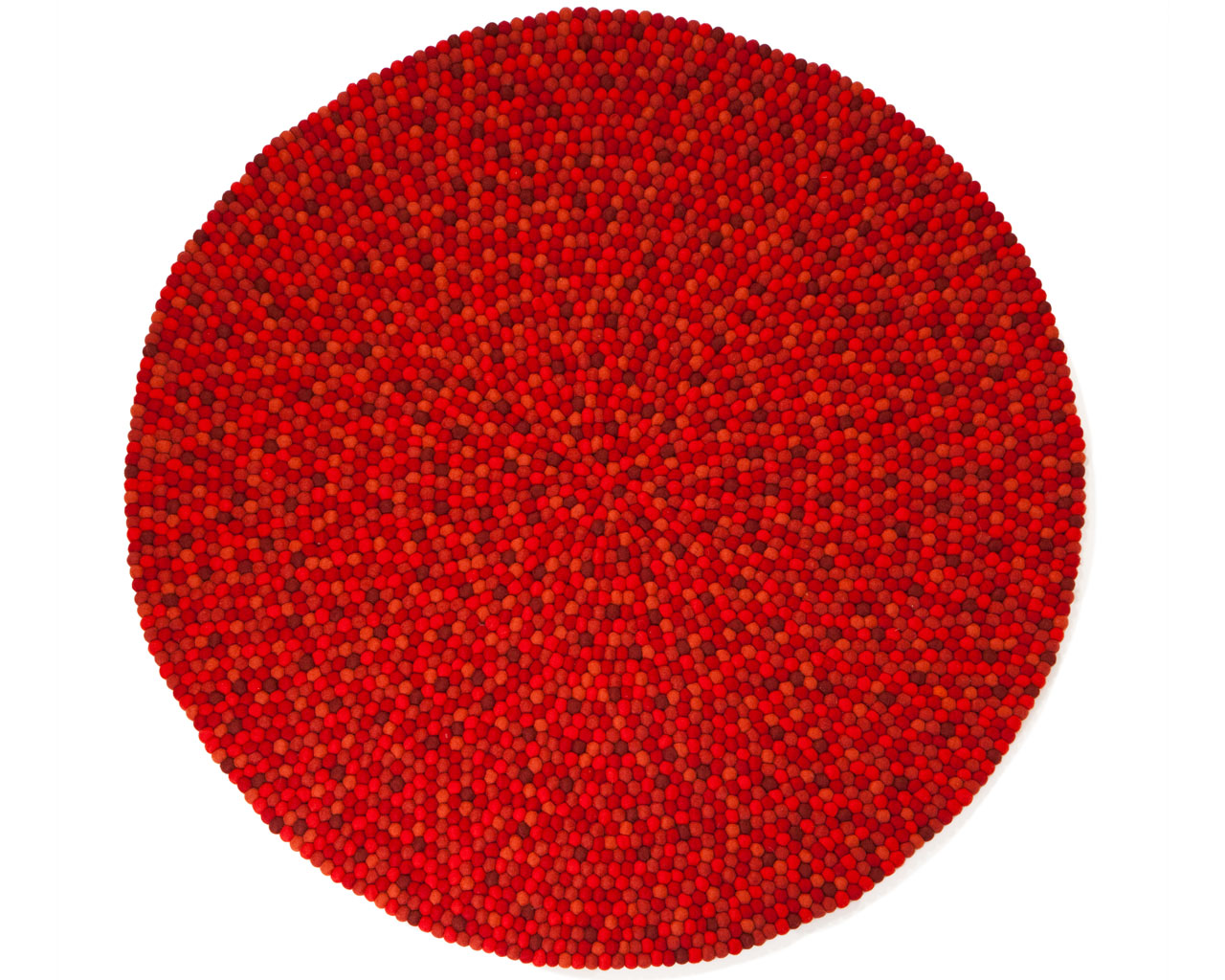 red felt ball carpet hay wool floor design