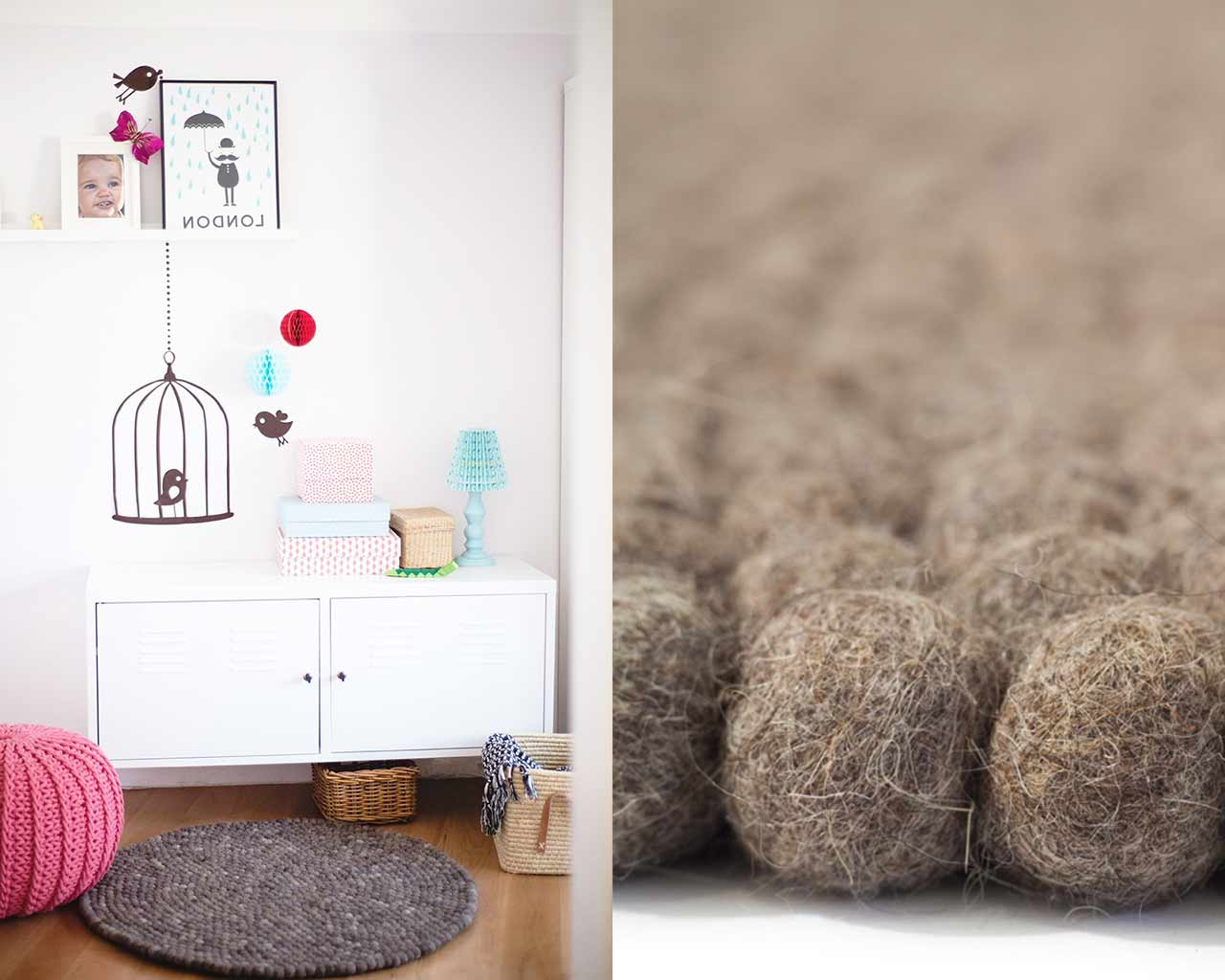 baby room natural ball carpet
