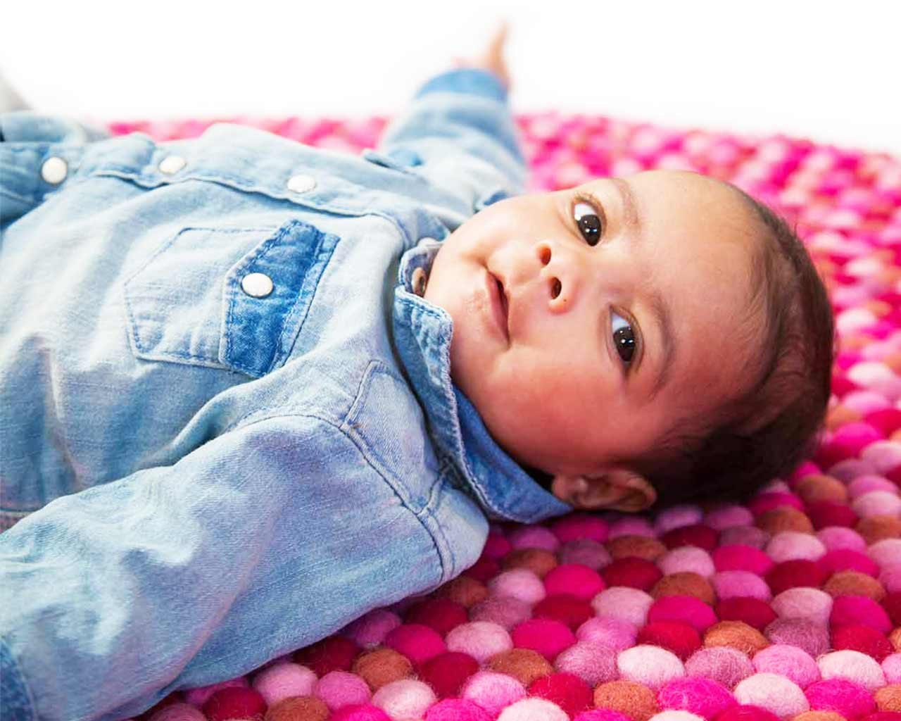 baby photo on carpets