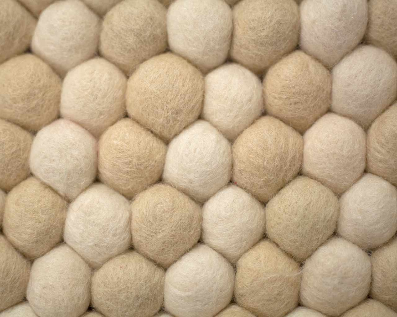 how to off white felted balls