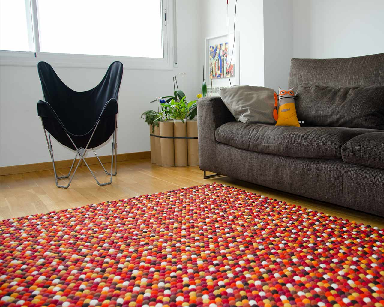 Custom felt ball rug – rectangle