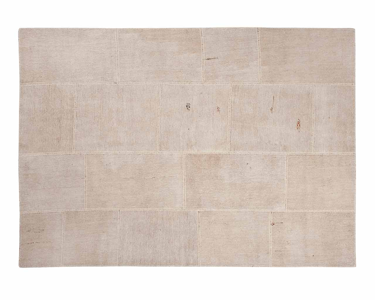 Patchwork Rugs Natural Fibers White Beige Colour Beautiful Living Room Custom Sizes