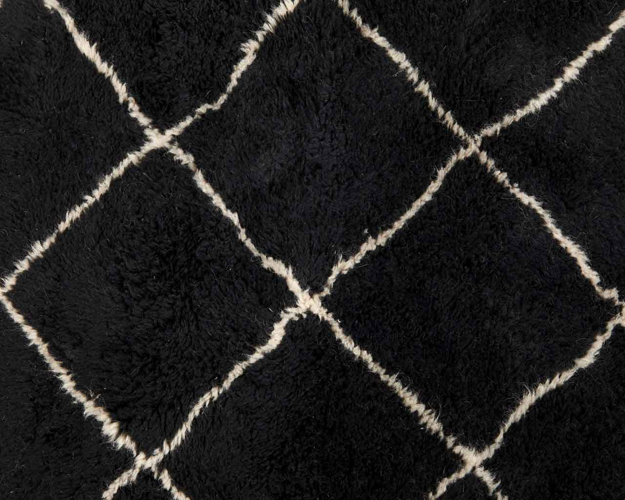 large black wool carpet 2