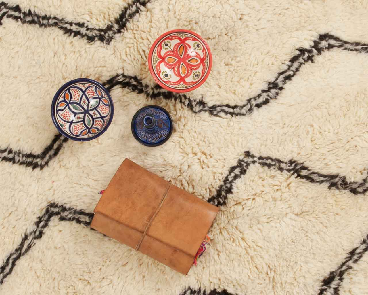 leather notebook traveller moroccan bowls carpet 1
