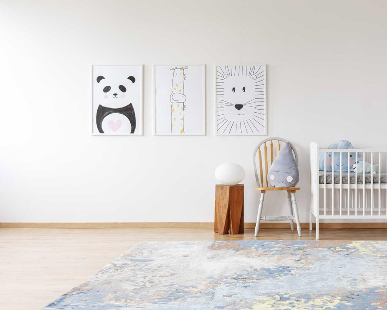 modern best matching rugs kids sleeping room