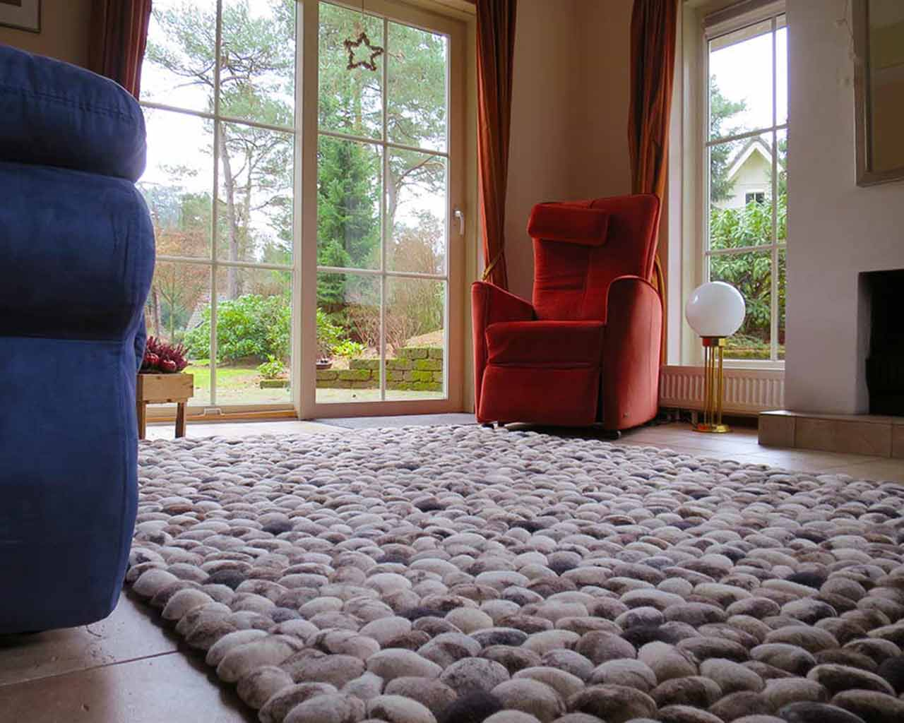 nature home living room pebble woollen carpet