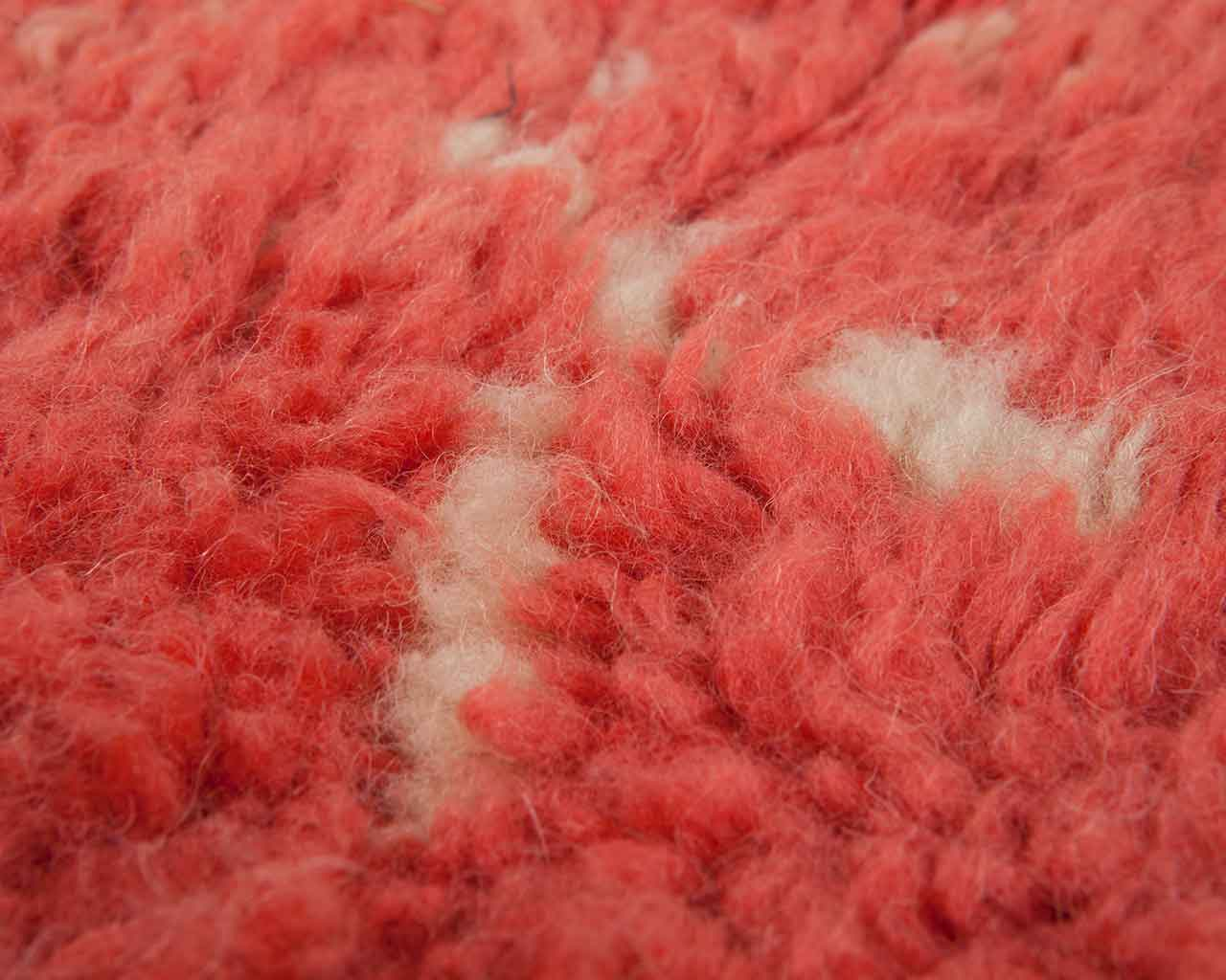 pink wool used for carpet industry 1