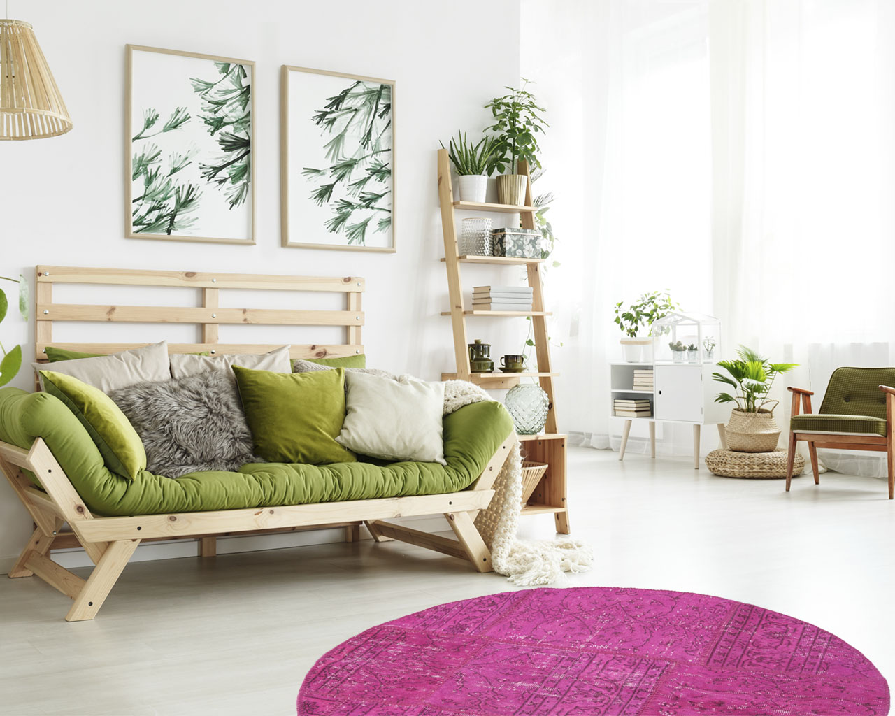round patchwork rugs home decoration ideas