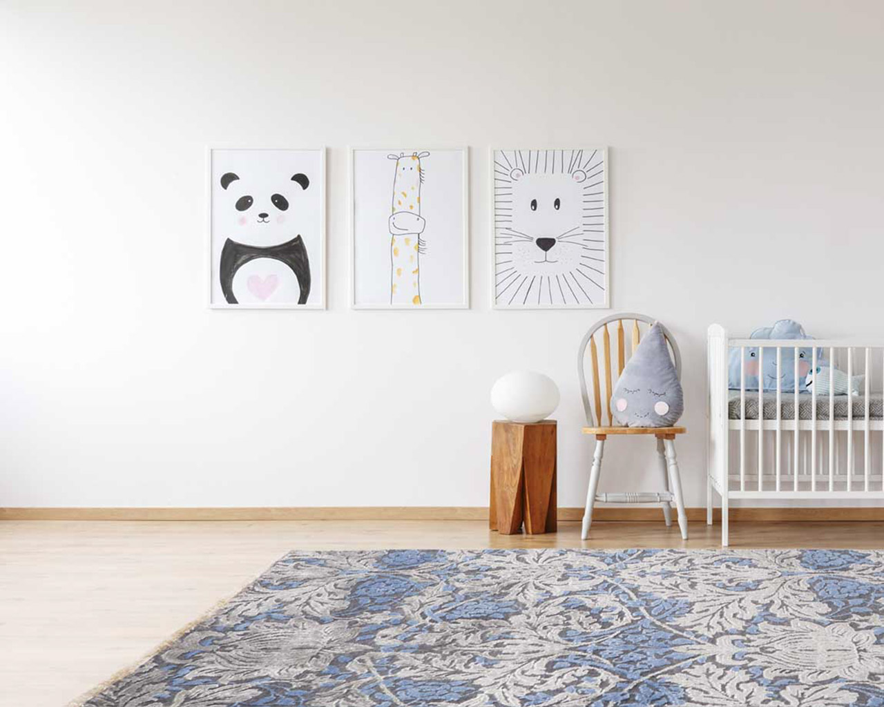 trendy hand knotted carpets kids room cart