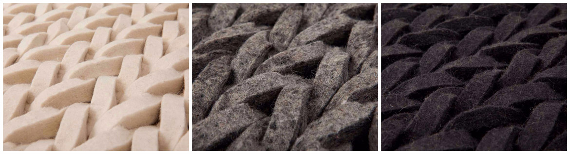 making-of-felted-woolen-yarn-grey-black-wool
